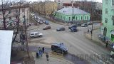 Webcam at the intersection of Nevsky - Pravda (Petrozavodsk, Russia)