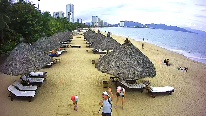 Веб-камера на пляже Центрального Парка Нячанга, Вьетнам