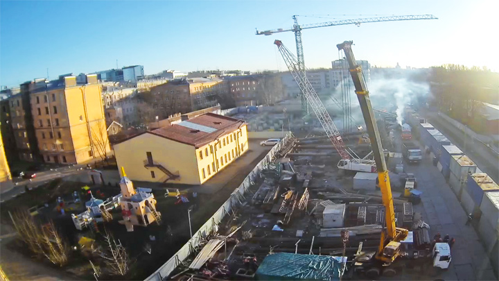 Webcam of the residential complex «New Nevsky», St. Petersburg