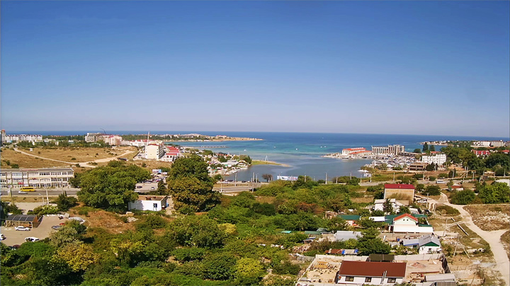 Webcam with a view of Omega Bay (Round Bay, Sevastopol, Crimea)