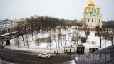 Webcam overlooking Cathedral Square and Catherine's Cathedral, Pushkin town