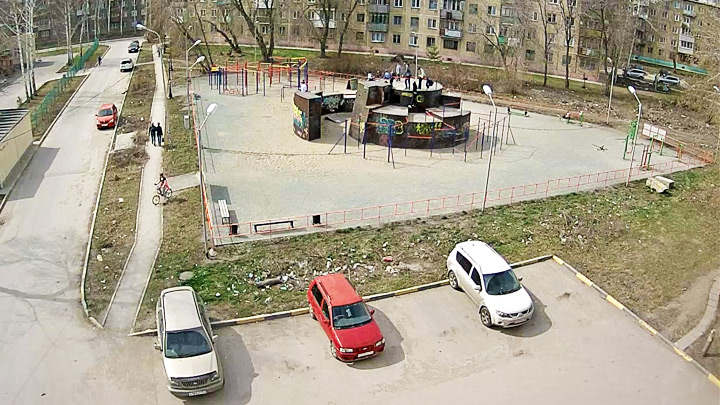 Parkour play-field webcam