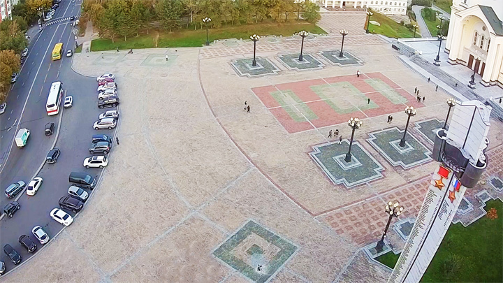 Glory Square Webcam in Khabarovsk city