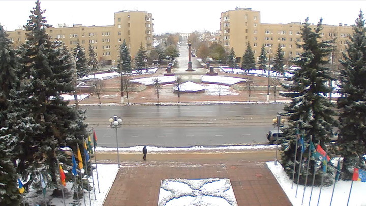 Webcam near the Stela «City of military glory» in Tver