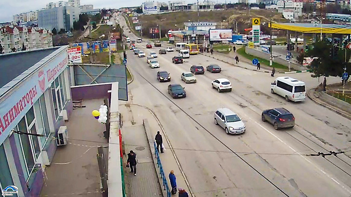 Webcam at bus stop «Campus» in Sevastopol