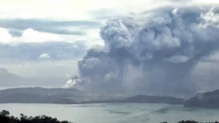 Taal volcano webcam in Tagaytay, Philippines