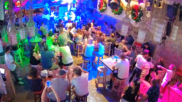 Webcam at The Palms Bar in Koh Samui, Thailand: The Palms Live Stream From Chaweng, Koh Samui, Thailand, Live HD Webcam