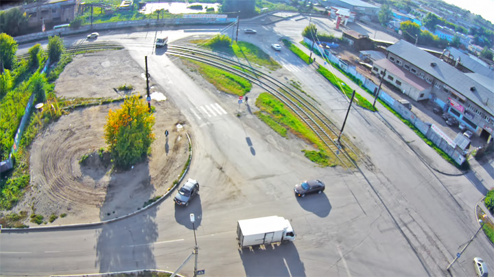 Webcam at the crossroads of Udarnaya/Socialist, Biysk