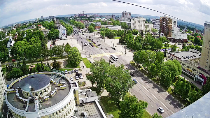Webcam with a view of Victory Square, Vladimir city