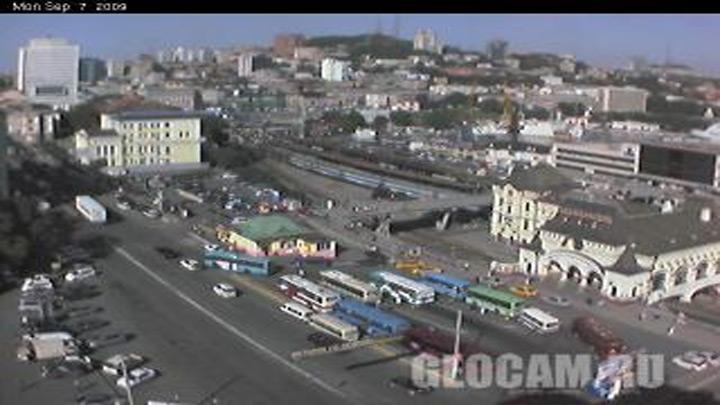 Веб-камера Железнодорожного вокзала Владивостока