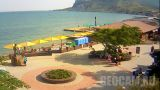 Voloshin square webcam in Koktebel