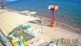 Webcam on the beach of the boarding house «Zenit» (Crimea, Morskoye) (Morskoye, Russia)