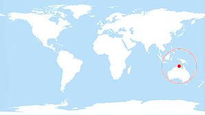 Map of Australia and Oceania webcams