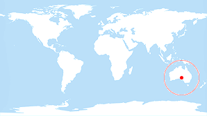 World map: South Australia