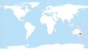 World map: New South Wales