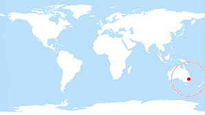 World map: Sydney