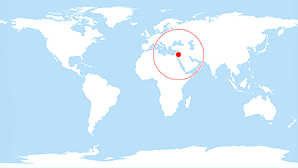 World map: Tel Aviv