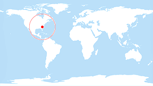 World map: South Carolina