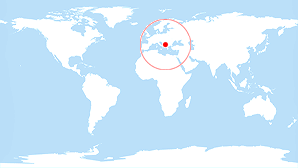 World map: Montenegro