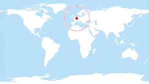 World map: Belgium