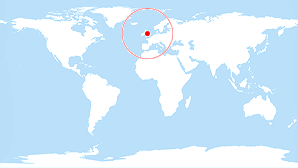 World map: United Kingdom
