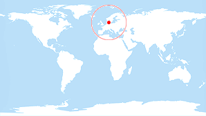 World map: Denmark