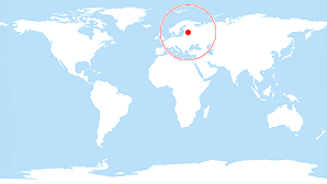 World map: Estonia