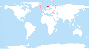 World map: Norway